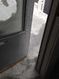 door open snow